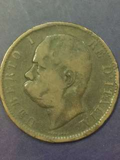 Itatly 10 centesimi , 1894, VG