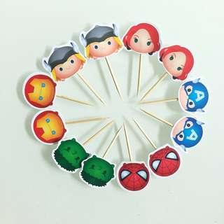 Cupcakes Topper (Tsum Tsum Avengers)