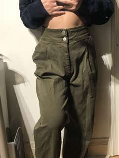 Urban outfitters BDG army green wide leg high waisted pants