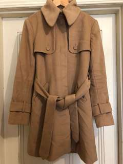 Size 12 camel Forever New coat