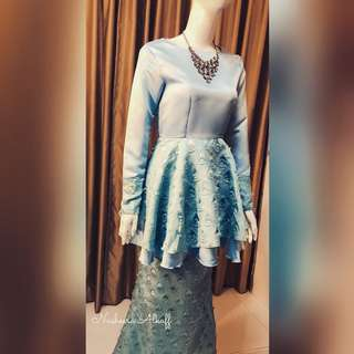 PEPLUM WITH MERMAID SKIRT. made to order. XXS TO XXXXXXL ADULT AND KIDS. Whatsapp +65 83052781 ships worldwide