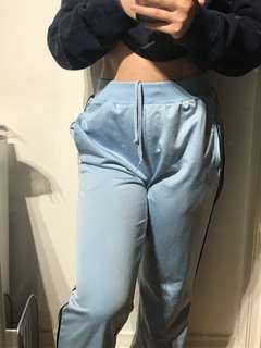 Adidas light blue pants