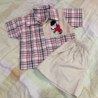 Terno for 6-12mos boy