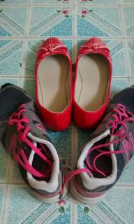 🆕 Red Doll Shoes Plus Free New Balance (Preloved)