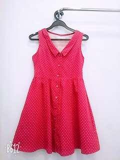 Red dot girl summer dress