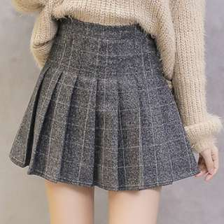 Wool Pleated Tennis Skirt American Apparel Style