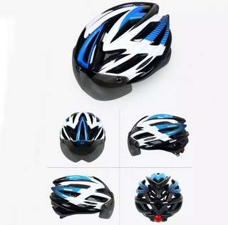 Ultralight Cycling Road Bike MTB Helmet with Light & Visor