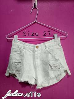 Highwaist Tattered short