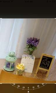 Wedding guest book table set up