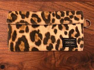 HEAD PORTER LEOPARD PATTERN WALLET (Limited item)