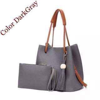 Korean 2in1 Bucket Bag and Make up Pouch Sling Bag