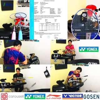 Racket Restring - Badminton Restringing - ERR Racket Restringing - Yonex Professional Badminton Racquet Stringing in Singapore West