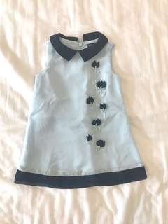 Periwinkle Baby And Navy Blue Dress
