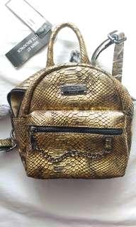 BCBG Gold Mini Backpack