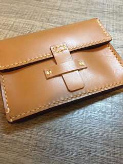 全人手造 真皮 銀包 實用 handmade leather wallet $220 包郵