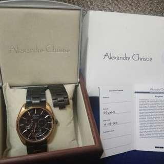 Jam tangan alexandre christie gold black
