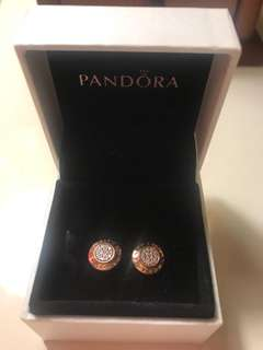 Pandora 耳環玫瑰金