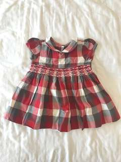 Periwinkle Red Plaid Dress