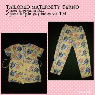 TAILORED MATERNITY TERNO