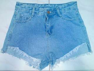 High Waisted Denim Short