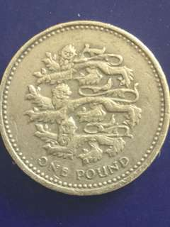 Uk one pound Year 1997, Vf