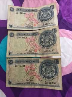 Old Orchid $1 notes
