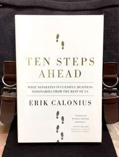 # Highly Recommended《Bran-New + Hardcover Edition + What Really Make Visionary Leaders Minds? 》Erik Calonius - TEN STEPS AHEAD : What Separates Successful Business Visionaries from the Rest of Us