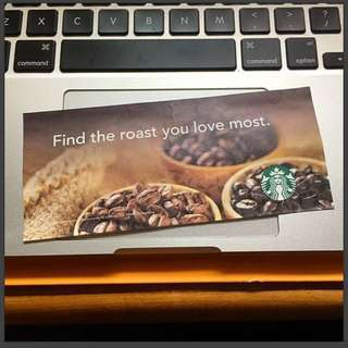 Starbucks 咖啡豆券 Coffee Bean Coupon