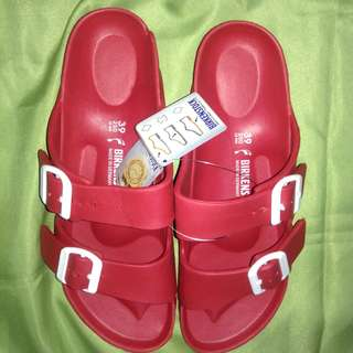Birkenstock two strap rubber