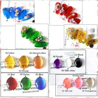 Fashion Translucent Candy Color Nail Gel Polish 7g Gemstone Gel Nail Art Tips UV LED Glass Gel Solvent Nails Polish