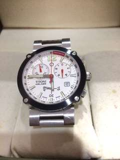 Titoni Airliner Tachymeter Sapphire Crystal Swiss Made Authentic
