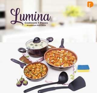 Perangkat Masak Lumina Cookware 7 Pieces Aluminium Non Stick