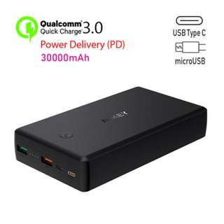 PB-Y7 QC 3.0 + PD Power Bank 30,000mAh with Power Delivery