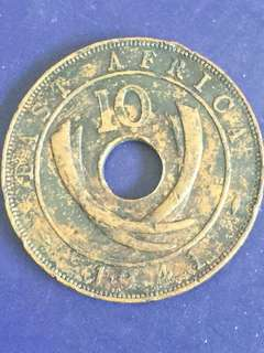 East Africa 10 Cents Year 1941, Vf
