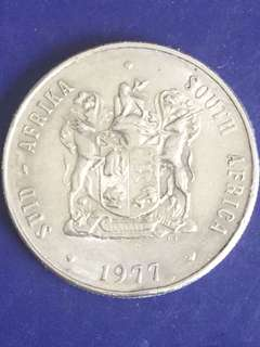 South Africa 1 Rand year 1977, Vf