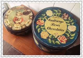 Vintage English Biscuit & Cadbury Tins