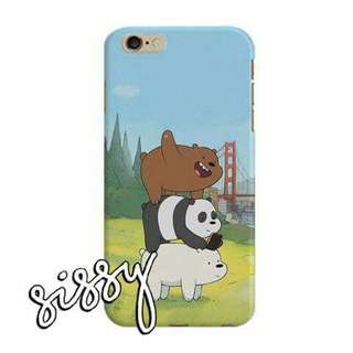 [WBBEARS9] WE BARE BEARS PHONE CASE