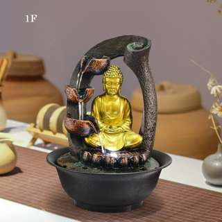 Desktop Water Fountain Water Feature Fengshui Display Rolling Ball Water Sound