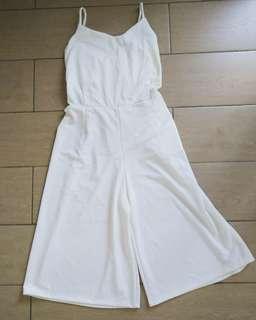 White wide leg Jumpuit