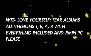WTB LOVE YOURSELF TEAR ALBUMS