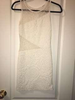 White part sheer dress