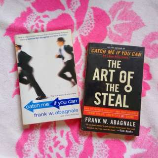 Catch Me If You Can & Art of the Steal (signed) by Frank W. Abagnale