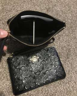 Coach Corner Zip Wallet