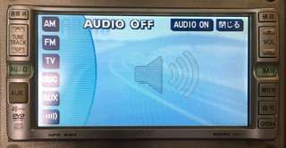 "Japan import toyota dvd player 7"" touch screen"