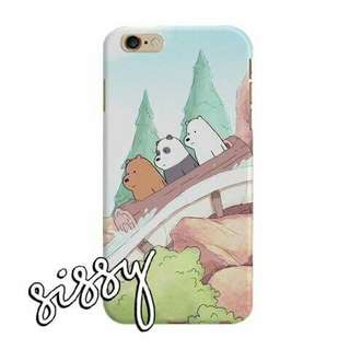 [WBBEARS12] WE BARE BEARS PHONE CASE