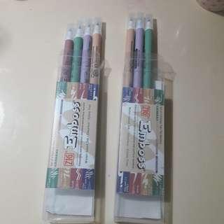 Zig emboss twin markers used