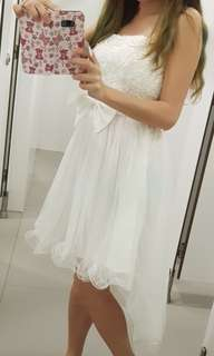 BNWT Rom formal lace white gown