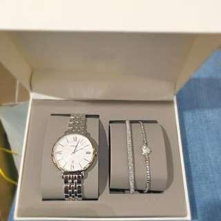 Fossil Watch with Bracelet Set