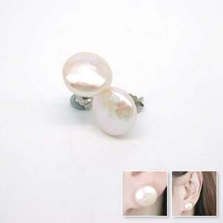 925 silver with fresh water pearl earrings / 925純銀淡水珠耳環