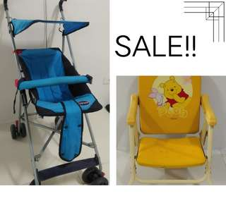 45% OFF Stroller with FREE foldable chair